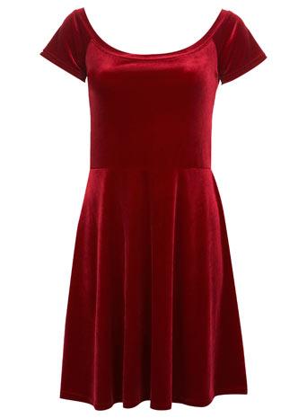 Red Velvet Skater Dress - View All - New In - Miss Selfridge