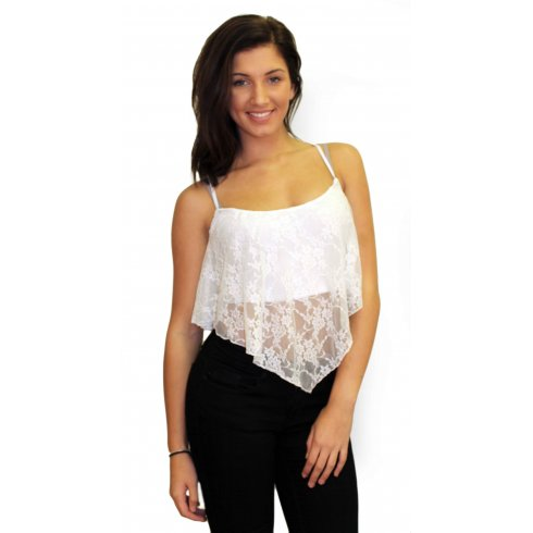 White Lace Top from Parisia Fashion