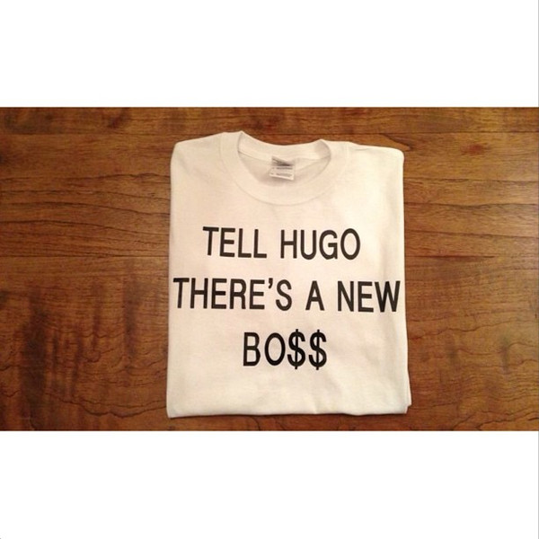 t-shirt t-shirt shirt hugo boss asap hugo boss white fashion qoute tumblr loe love amazing beautiful outfit ootd webshop chanel