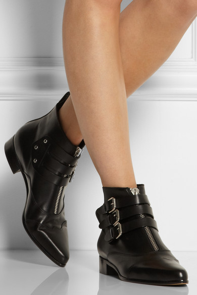 Tabitha Simmons|Early leather ankle boots|NET-A-PORTER.COM