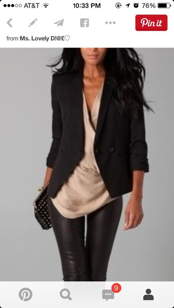 coat black fitted blazer