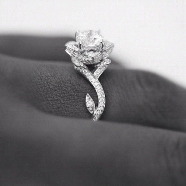 jewels ring rose diamonds diamond ring wedding ring rose ring blouse engagement ring ring ring rose diamonte dimond lotus flower silver diamonds flowers beautiful roses wow nail accessories silver ring silver jewelry rings and jewelry rose shaped ring