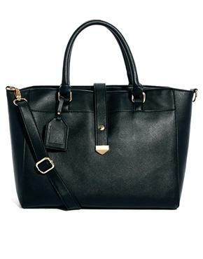 ASOS | ASOS Handheld Bag With Front Strap at ASOS
