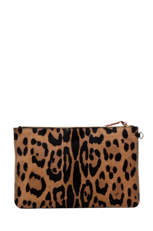 Jerome Dreyfuss|Large Popoche Clutch in Leopard & Multi