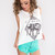 Do All Things With Love Top - White