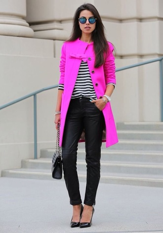 bright pink style jacket