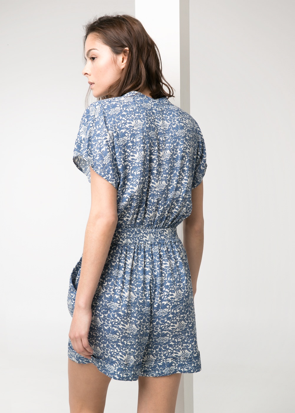 Printed short jumpsuit -  Dresses - Women - MANGO
