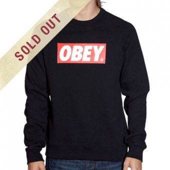 Obey Clothing The Box Crew Neck Sweatshirt  : SUNSETSTAR