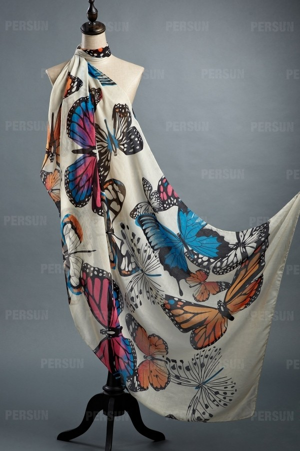 scarf butterfly clothes fashion top dress accessories jewelry