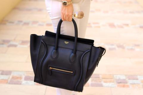 Celine Black 'Mini' Luggage Tote Bag (Medium) Handbag — Bib   Tuck | Keep.com
