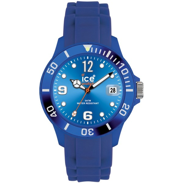 Ice-Watch SI.RD.S.S Analogue Silicon Strap Watch , Blue - Polyvore