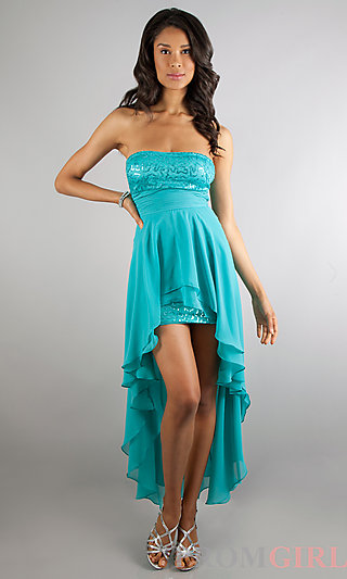 Strapless High Low Dresses for Junior Prom- PromGirl