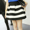 2016 new vogue scalloped stripes ponte skirt women girls skirt black and white stripes-in skirts from women's clothing & accessories on aliexpress.com | alibaba group