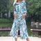 Blue and white elegant jumpsuit