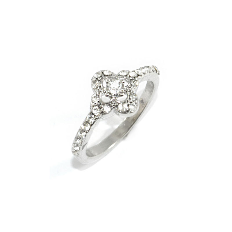 CRYSTAL CLOVER RING - Rings & Tings | Online fashion store | Shop the latest trends