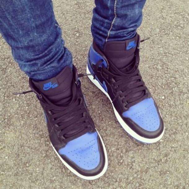 shoes blue black