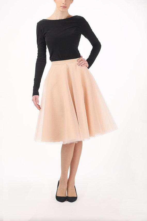 Circle skirt circle tulle skirt champagne skirt by Fanfaronada