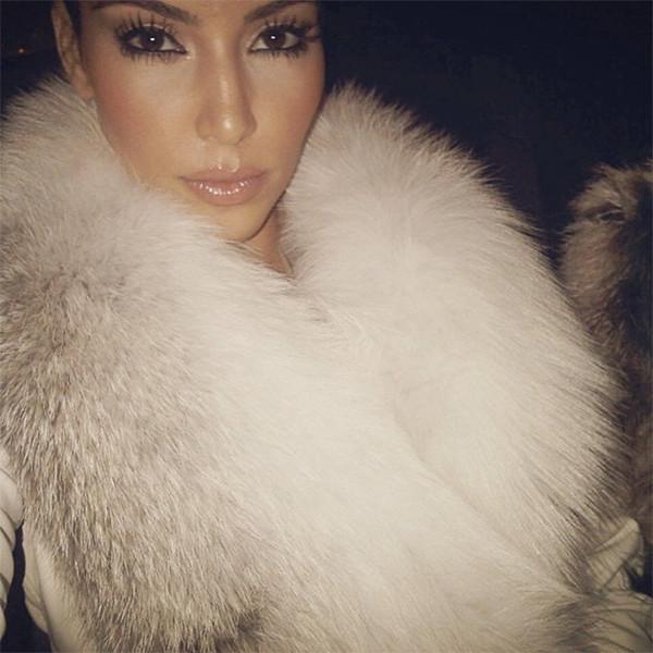 coat fur white chic