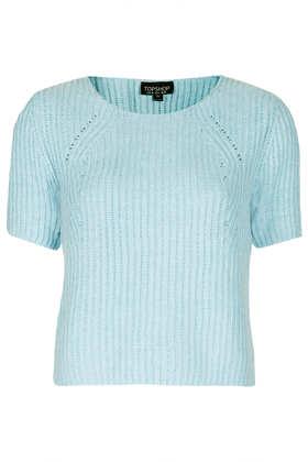 Short Sleeved Ribbed Knit - Topshop