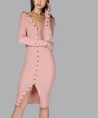 dress girly girl girly wishlist pink pink dress bodycon dress button up dress