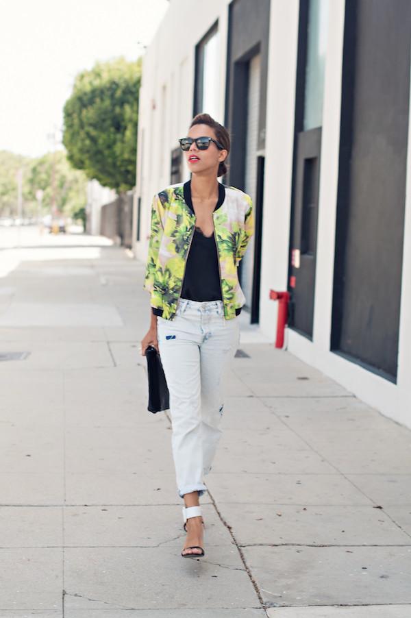 style me grasie jacket tank top jeans shoes bag jewels