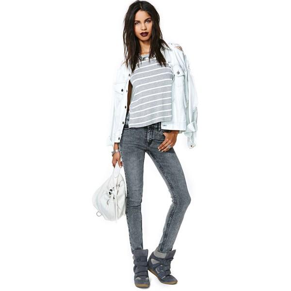 Cheap Monday Tight Skinny Jeans - Black Snow - Polyvore