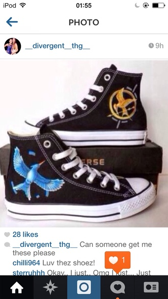 shoes the hunger games katniss catching fire mockingjay low top sneakers converse black sneakers