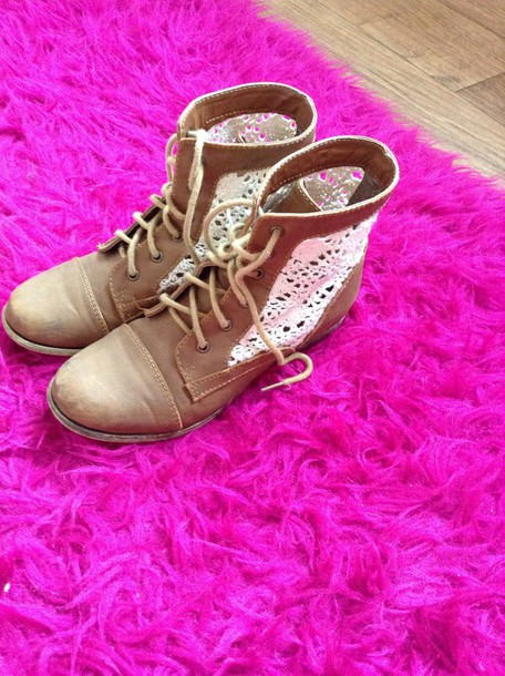 shoes brown booties lace-up shoes