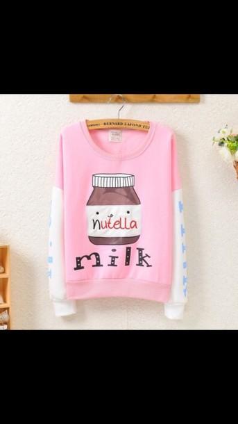 sweater food nutella