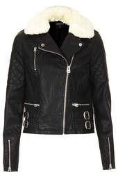 quilted leather - Topshop USA