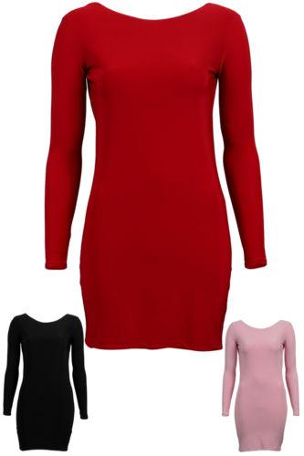 New Womens Backless Ladies Scoop Back Stretch Short Bodycon Mini Dress Size 8 12 | eBay