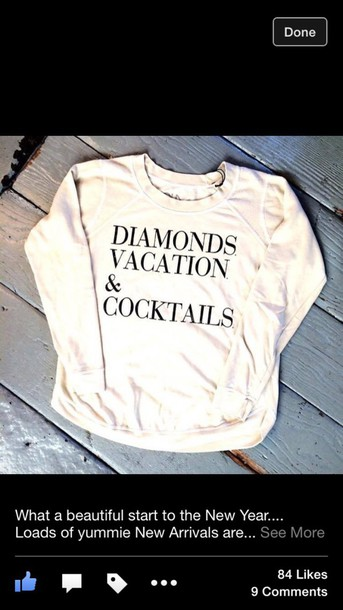 shirt vacation and cocktails
