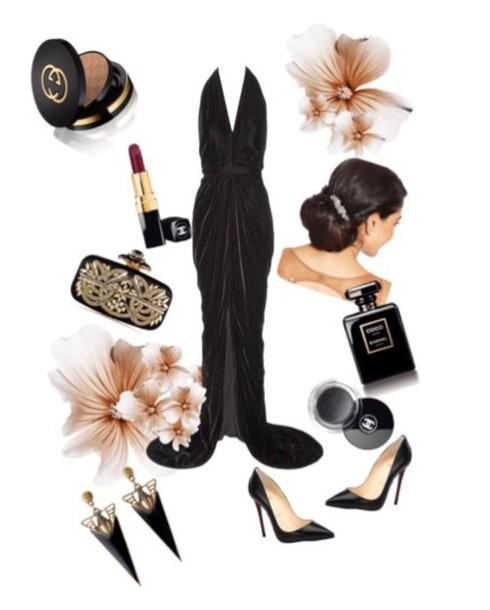 dress black tie black dress vintage thigh slit sexy dress thigh slit dress open back prom dress clucth special occasion dress
