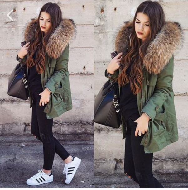 jacket winter outfits winter coat winter swag green. Black Bedroom Furniture Sets. Home Design Ideas