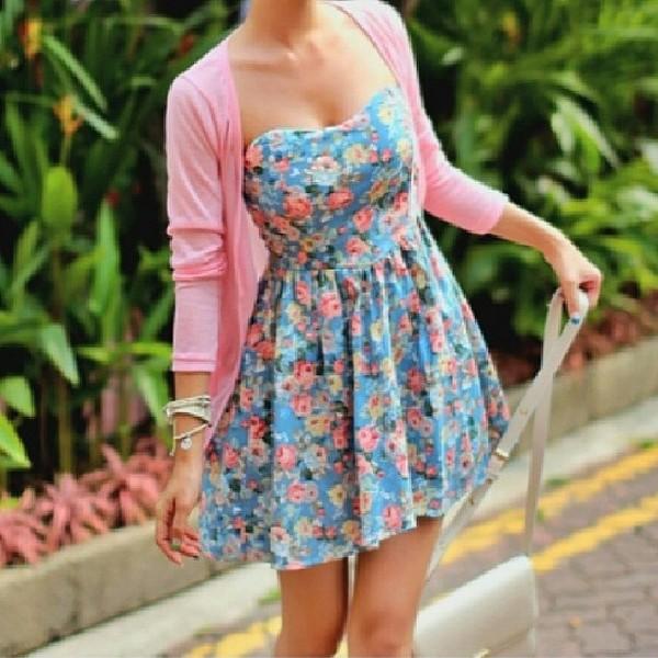 dress blue dress summer dress floral floral dress