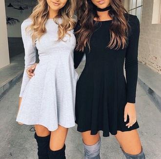 dress black white flowy canon robe romantique girl beautiful mode belle fashion black dress @dress black and white