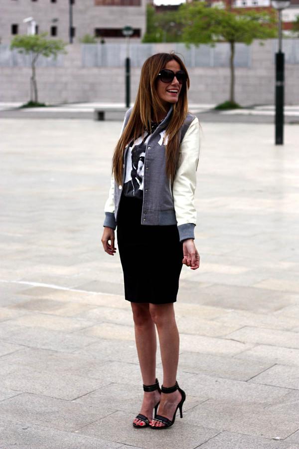 rebel attitude t-shirt skirt jewels shoes