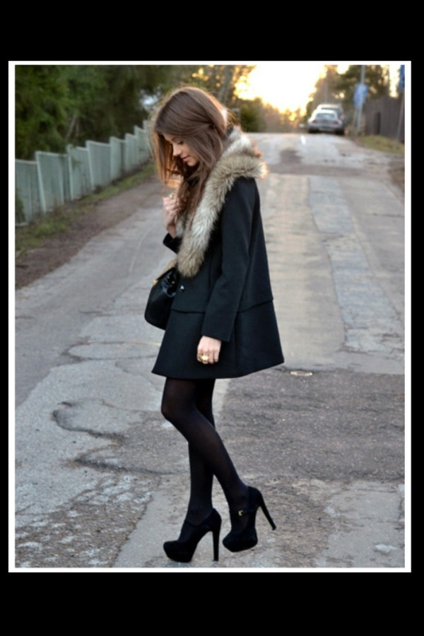 coat black faux fur fur collar fur jacket fur coat fur brown boyfreind christmas cold winter outfits meal fall outfits girl women lady inneed in shoes