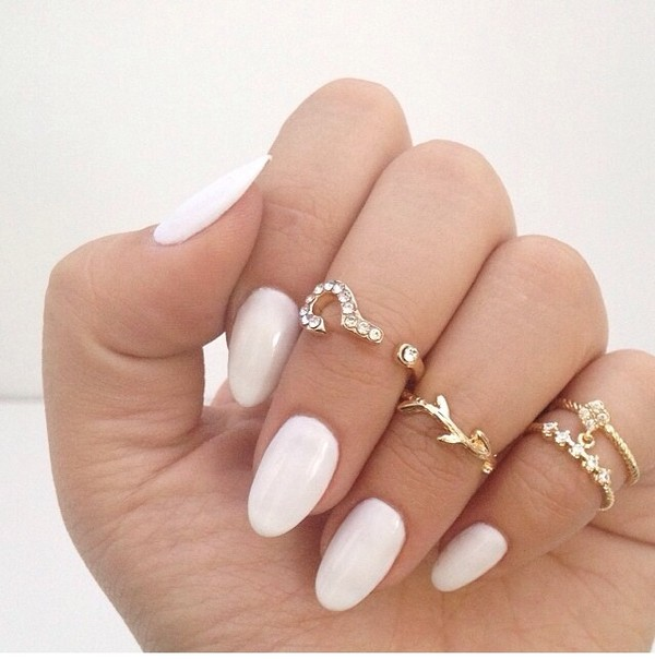 jewels nail polish white jewels rings gold