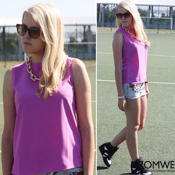 ROMWE | Short Wide Curb Chain Necklace, The Latest Street Fashion