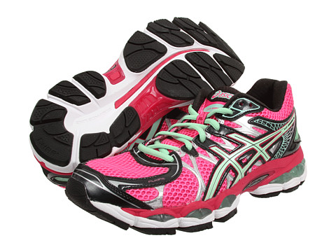 ASICS GEL-Nimbus® 16 Hot Pink/Green/Black - Zappos.com Free Shipping BOTH Ways