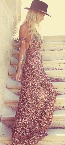 tribal pattern patterned dress gitano maxi pattern open back dress clothes boho boho dress maxi dress boho chic boho dress maxi open back dresses maxi dress summer dress