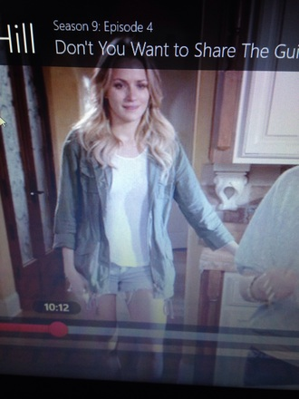 coat one tree hill quinn army green jacket