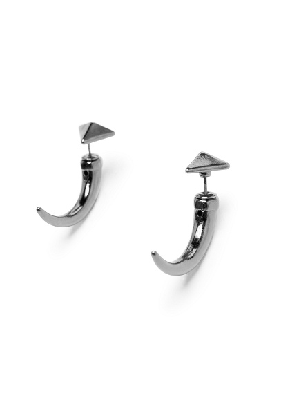 MANGO - Accessories - Jewellery - Metal horn earrings