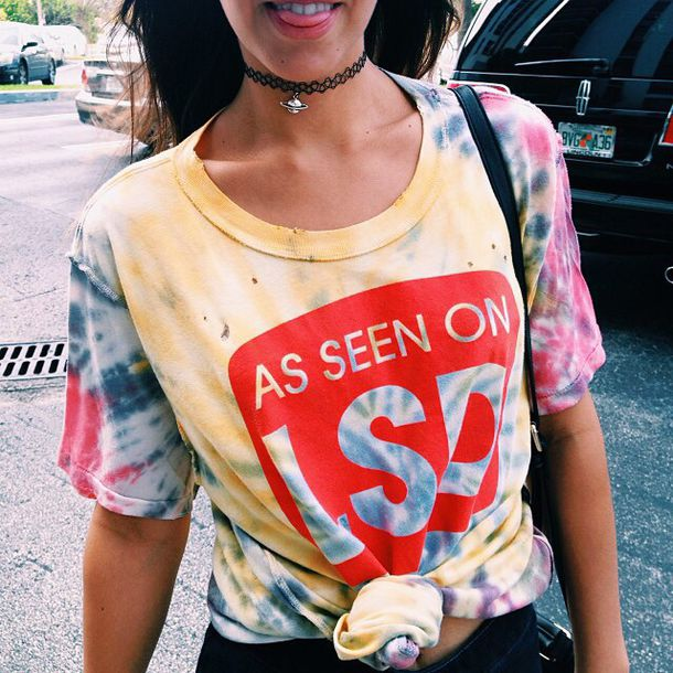 shirt tie dye t-shirt lsd trippy