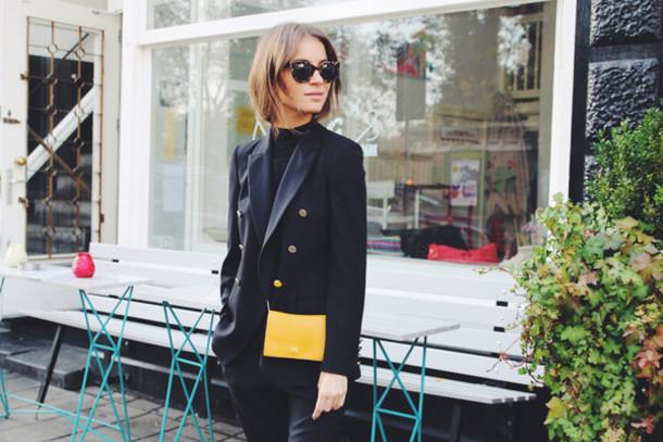 lizzy v d light blogger jacket sweater pants bag