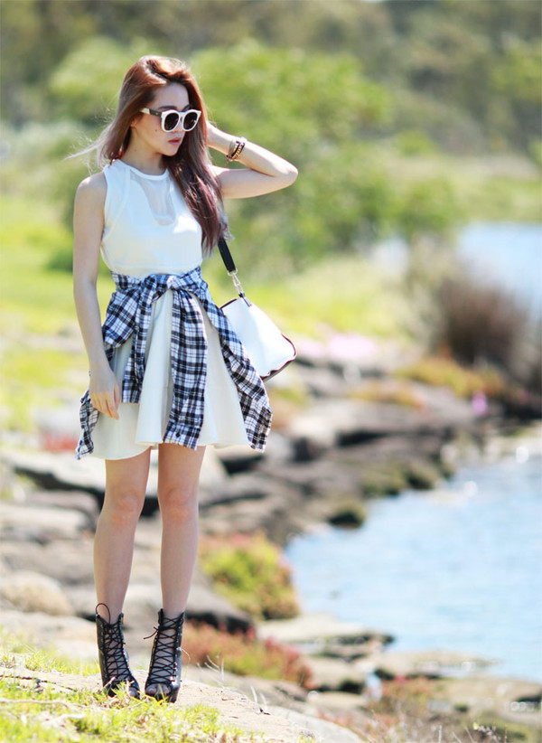 chloe ting dress sunglasses bag shirt shoes