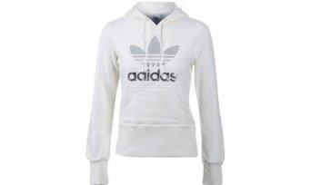Amazon.com: adidas Women's adi Trefoil Hoody (White, Metallic Silver, Large): Clothing