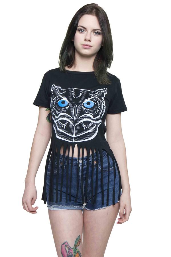 top xirl summer t-shirt sexy high waisted tassel