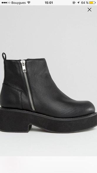 shoes black platform shoes